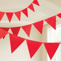 Apple Red Plastic Pennant Banner